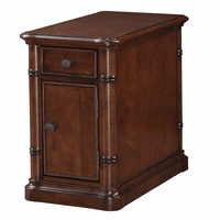 Bamboo Motif Brown Chairside End Table