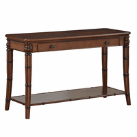 Bamboo Motif Brown Console Table