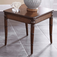 Bamboo Motif Brown End Table