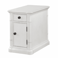 Bamboo Motif Ivory Chairside End Table