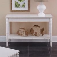 Bamboo Motif Ivory Console Table