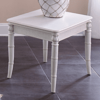 Bamboo Motif Ivory End Table