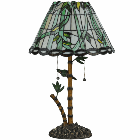 Bamboo Stained Glass Table Lamp