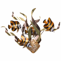 Banded Angelfish Mardi Gras Wall Art