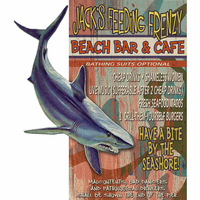 Bar & Cafe Shark Personalized Wood Signs