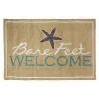 Bare Feet Welcome Hooked Wool Accent Rug - OVERSTOCK