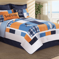 Barrel Wave Quilt Bedding Collection