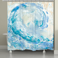Barrel Wave Shower Curtain
