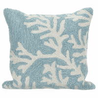 Barrier Reef Blue Indoor/Outdoor Pillow