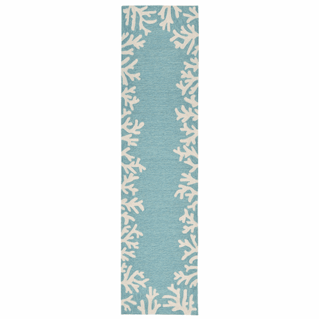 Barrier Reef Blue Indoor/Outdoor Rug - 2 x 8
