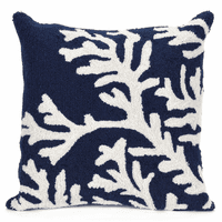 Barrier Reef Navy Indoor/Outdoor Pillow