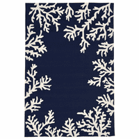 Barrier Reef Navy Indoor/Outdoor Rug Collection