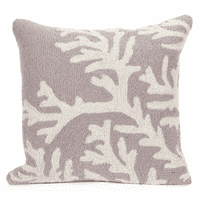 Barrier Reef Silver Indoor/Outdoor Pillow