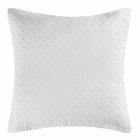 Basketweave White Euro Sham