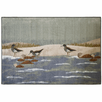 Bathing Sandpipers Rug - 3 x 4