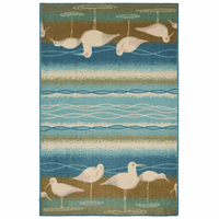 Bathing Seagulls Rug - 3 x 4