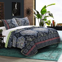 Batik Night 3 Piece Quilt Set - King