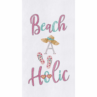 Beach-A-Holic Flour Sack Towels - Set of 6