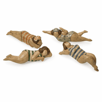 Beach Babes Wood Sculptures - Set of 4