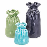 Beach Bags Vases - Set of 3