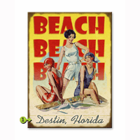 Beach Beach Beach Personalized Signs