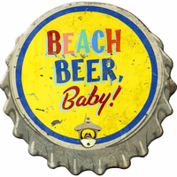Beach Beer Baby Wood Bottle Opener