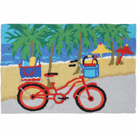 Beach Bicycle Indoor/Outdoor Rug