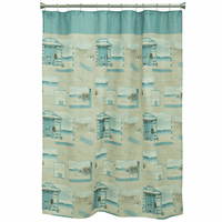 Beach Bicycle Shower Curtain
