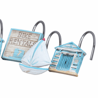 Beach Bicycle Shower Curtain Hooks - Set of 12 - CLEARANCE