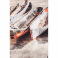 Beach Boats Canvas Art