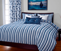 Beach Breeze Stripe Blue Duvet Sets