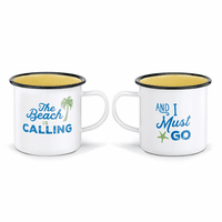 Beach Call Mugs - Set of 2