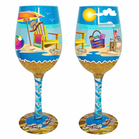 Beach Chair Wine Glasses - Set of 4