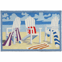 Beach Chairs Indoor/Outdoor Rug