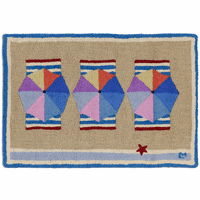Beach Club Hooked Wool Rug