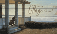 Beach Cottage Saw-Cut Wood Sign