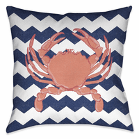 Beach Crab 18 x 18 Outdoor Pillow