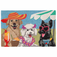 Beach Diva Dogs Indoor/Outdoor Rug Collection