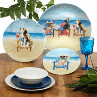 Beach Dogs Dinnerware Collection