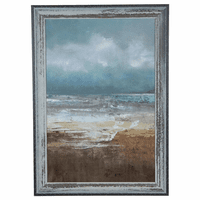 Beach Grass & Waves Framed Art