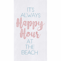 Beach Happy Hour Flour Sack Towels - Set of 6