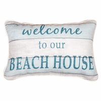 Beach House Boardwalk Pillow