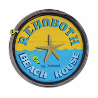 Beach House Personalized Barrel End