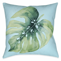 Beach Leaf I 18 x 18 Outdoor Pillow