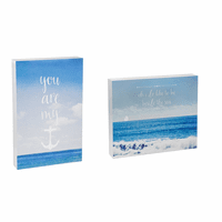 Beach Love Wood Table Sign - Set of 2