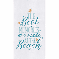 Beach Memories Flour Sack Towels - Set of 6