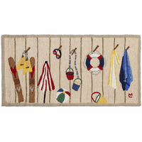 Beach Rack Hooked Wool Rug