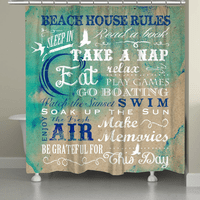 Beach Rules Shower Curtain