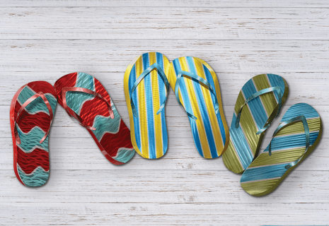 Beach Sandals Wall Art