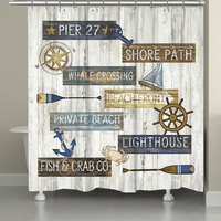 Beach Signs Shower Curtain